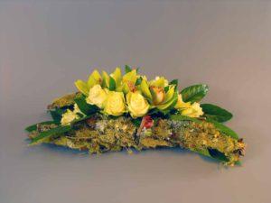 rouwstuk Schors en bloem