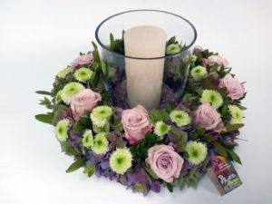 bloemstuk lichtkrans