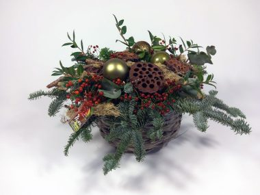 bloemstuk-Kerstwens